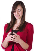 Beautiful Girl Texting — Stock Photo