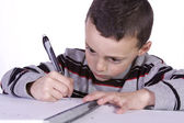 Little Cute Boy Practicing His Skills — Stock Photo