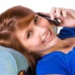 Teenager Talking on the Cell Phone - Foto de Stock