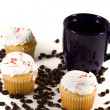 Isolated Coffee Mug with Cupcake — Stock Photo