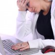 Stressed Teenager with a Laptop — Stock Photo #3193909