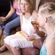 Teenage Drinking Caught by Mother - Stock Photo