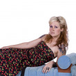 Artistic Image of a Woman Sitting — Stock Photo
