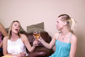 Teenage Drinking Caught by Mother — Stock Photo