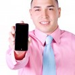 Businessman Holding a Cell Phone — Stock Photo #3327307
