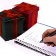 Making the Christmas List — Foto Stock