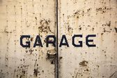 Rusty garage door — Stock Photo