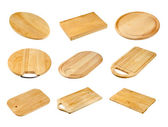 Various wooden cutting boards — Stock Photo