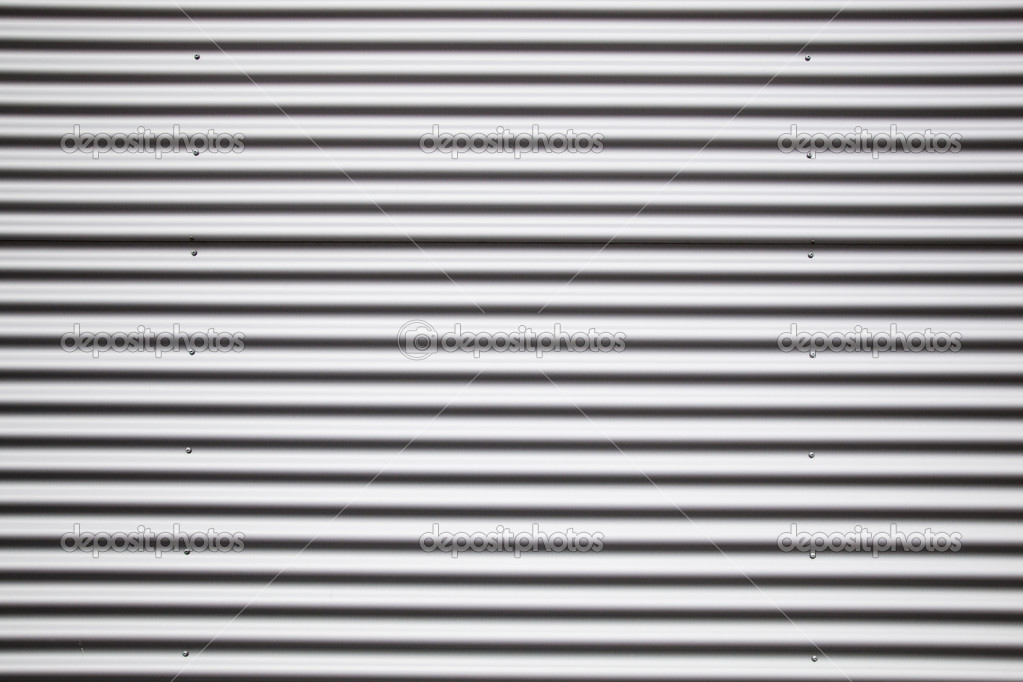 Detail of corrugated metal sheet - full frame — Stock Photo #2827143