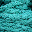 Turquoise rope - Stock Photo