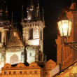 Gothic church at night — Stock Photo