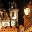 Gothic church at night — Stock Photo #3072883