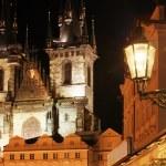 Gothic church at night — Stock Photo