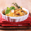 Farfalle with mushrooms and cream — Stock Photo #3114614