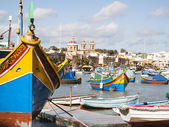 Fishing village of Marsaskala — Stock Photo
