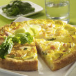 Stock Photo: Leek quiche