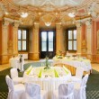 Foto de Stock  : Tables set for special occasion