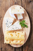 Variety of cheeses — Stock Photo