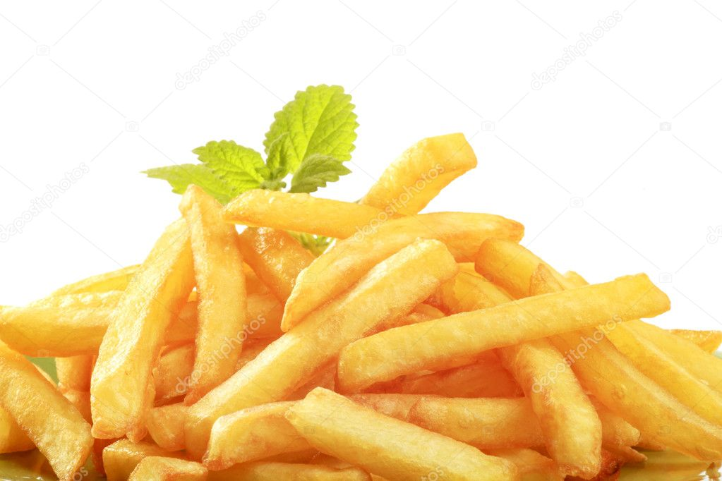 Heap of crisp French fries - detail — Stock Photo #3433122