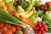 Assortimento di verdure fresche e frutta — Foto Stock