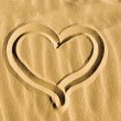 Heart drawn in the sand — Stock Photo #3591733