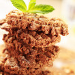 Stock Photo: Wholegrain nutty cookies
