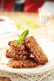 Wholegrain nutty cookies — Stock Photo