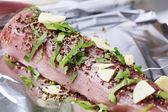 Spiced pork tenderloin — Stock Photo