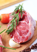 Raw shin beef — Stock Photo