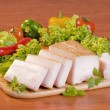 Sliced pork fat — Stockfoto