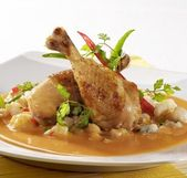 Chicken Legs in Paprika Cream Sauce — Foto Stock