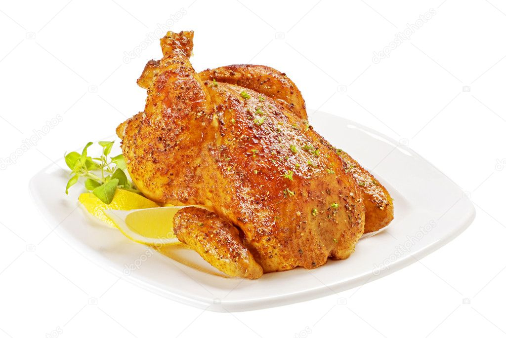 Roast chicken with crisp skin — Stock Photo #3882224