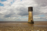 Old tower on the humber estuary — Stock Photo