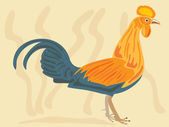 Sri lanka jungle fowl — Stockvector