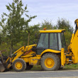 Big yellow digger — Stock Photo