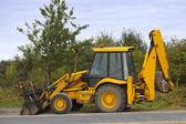 Big yellow digger — Stock Photo
