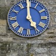 Blue clock — Foto Stock