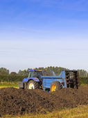 Manure spreader — Stock Photo