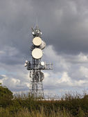 Communications mast — Стоковое фото