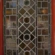 Stained glass pub window - Stock Photo