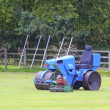 Cricket roller and mower — Stock Photo