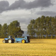 Stock Photo: Fertilizing fields