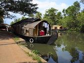Convertrd rice boat — Stock Photo