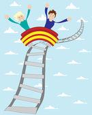 Roller coaster — Stock Vector