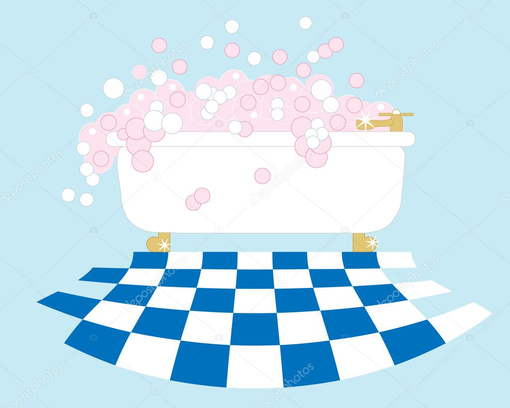 Bubble bath vector the image kid has it for Bagnoschiuma v