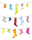 Odd socks — Stock Vector