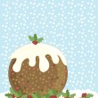 Christmas pudding - Stock Vector