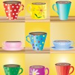 Vettoriale Stock : Mugs