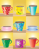 Mugs — Vettoriale Stock