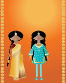 Indian fashions — Stock Vector